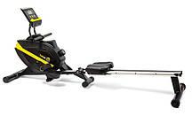 Гребной тренажер для дома магнитный до 150 кг Besport BS-1006R BOATER  черно-желтый