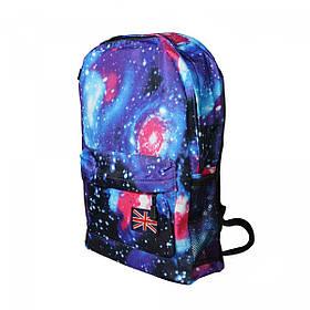 Рюкзак стильный молодежный Космос, 20 л, Синий