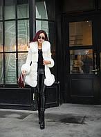 Женский кожаный зимний пуховик с мехом. Модель 05128, фото 4