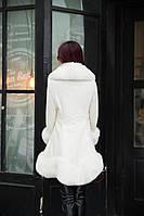 Женский кожаный зимний пуховик с мехом. Модель 05128, фото 8