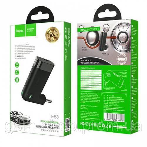 Автомобільний Bluetooth Адаптер Hoco E53 (Чорний)