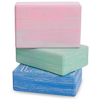 Блок для йоги мультиколор Record FI-5164 (EVA, р-р 23х15х7,5см, кольори в асортименті), фото 1