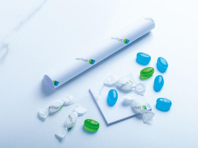 Бумага этикеточная для конфет с твист-эффектом