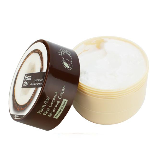 Крем для обличчя і тіла з маслом кокоса FARM STAY Real Coconut All-in-One Cream