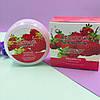 Deoproce Живильний крем для обличчя і тіла з вмістом екстракту полуниці Natural Skin Strawberry Mourishing, фото 3