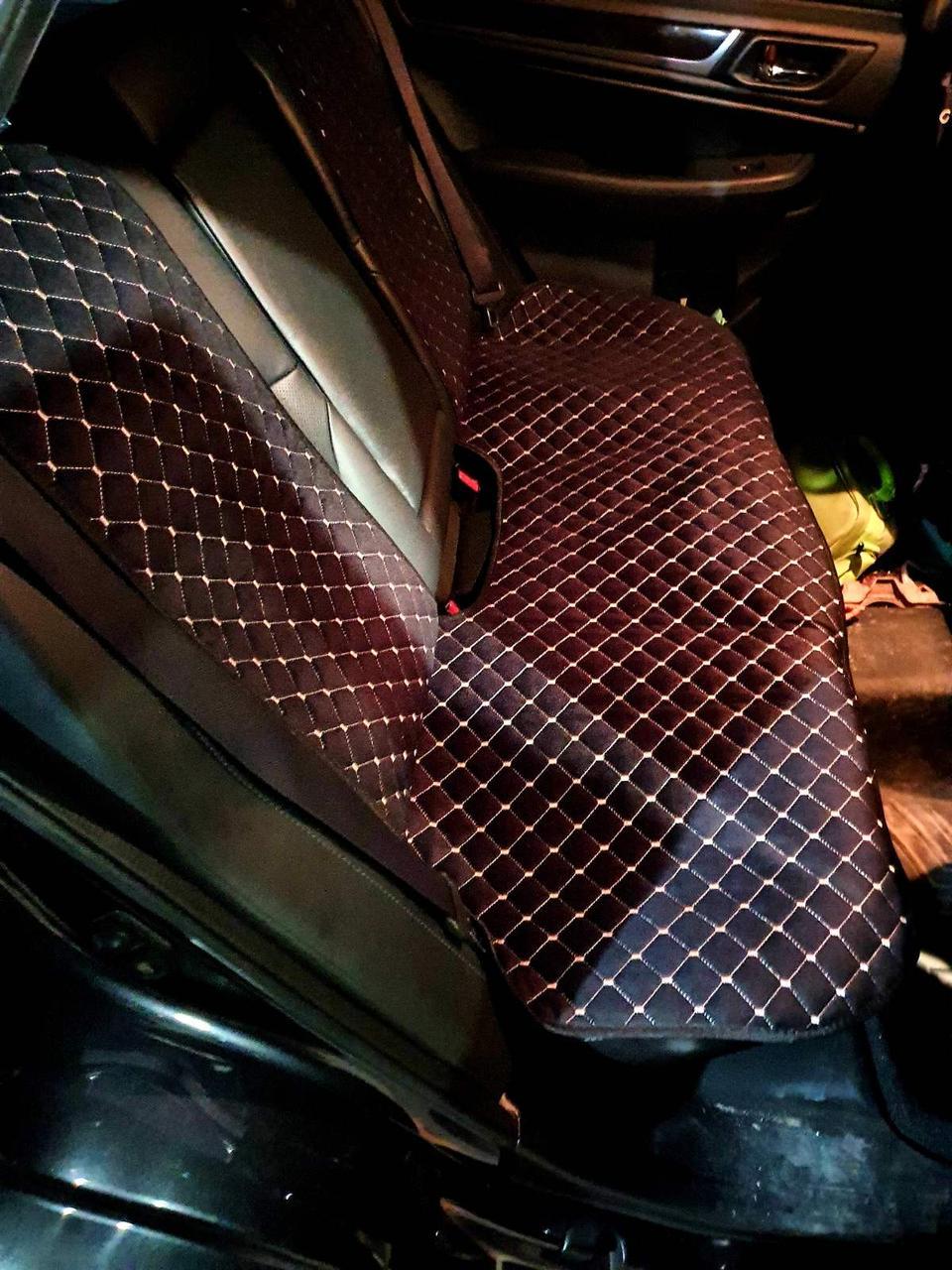 Накидки на сиденья авто из АЛЬКАНТАРЫ (искусственной замши). Серая строчка. Комплект