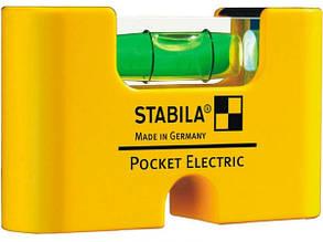 Рівень - міні STABILA Pocket Electric магнітний, для електриків 1 капсула, кріп-чохол 7 х 2 х 4 см