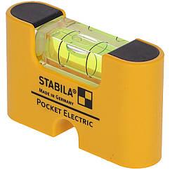 Рівень - міні STABILA Pocket Electric магнітний, для електриків: 7 х 2 х 4 см