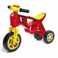 Мотоцикл пластиковий беговел триколісний велосипед для дітей без педалей з клаксоном Orion 171.