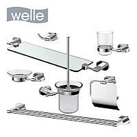 Набір з 7 аксесуарів Welle, хром, фото 1