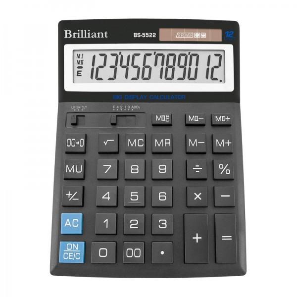 Калькулятор 12 разрядный Brilliant BS-5522