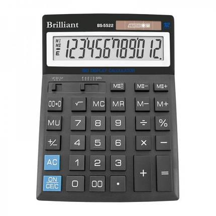 Калькулятор 12 разрядный Brilliant BS-5522, фото 2