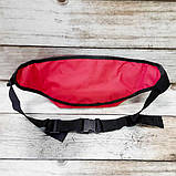 Нагрудна сумка - бананка Supreme червона, фото 4