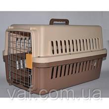 Переноска для животных (собаки и кошки) Кеннел с железной дверью и замком IATA №1 (48*32*30 см)