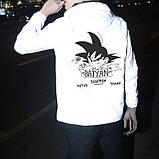"""Світловідбиваюча куртка-вітровка """"Saiyan"""" для підлітків зріст 152-158, фото 3"""