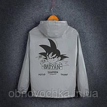 """Світловідбиваюча куртка-вітровка """"Saiyan"""" для підлітків зріст 158-164"""