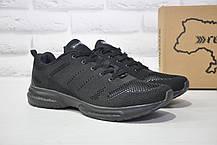 Чоловічі чорні легкі кросівки сітка Restime великі розміри:46