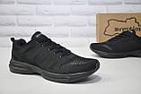 Чоловічі чорні легкі кросівки сітка Restime великі розміри:46,47, фото 3