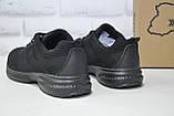 Чоловічі чорні легкі кросівки сітка Restime великі розміри:46,47, фото 4
