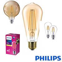 Филаментные светодиодные лампы серии Classic Philips с цоколем Е27