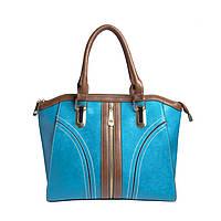 Брендовая женская сумка Ferragamo Феррагамо голубая