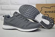 Чоловічі сірі легкі кросівки сітка Restime великі розміри:46,47,48
