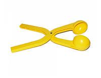 Игрушка для песка и снега (снежколеп) Snowball в форме мяча Желтый