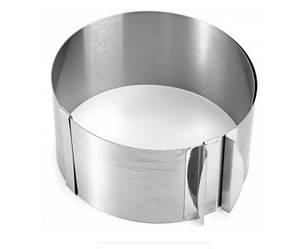 Раздвижное кольцо для торта Cake Ring 15-30 см форма для выпечки 8,5см