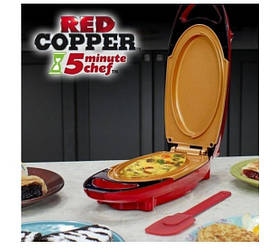 Электрическая сковорода для дома As Seen on TV Red Copper 5 Minute Chef