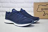 Мужские лёгкие синие кроссовки сетка Restime большие размеры, фото 3