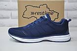 Чоловічі сині легкі кросівки сітка Restime великі, фото 4