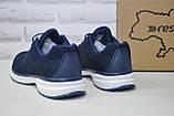 Чоловічі сині легкі кросівки сітка Restime великі, фото 5