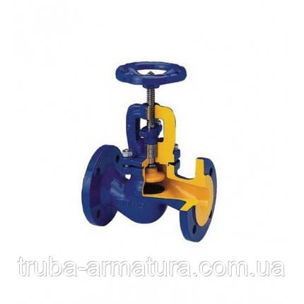 Клапан запорный фланцевый ZETKAMA 215 Ду 65 (сальник), фото 2