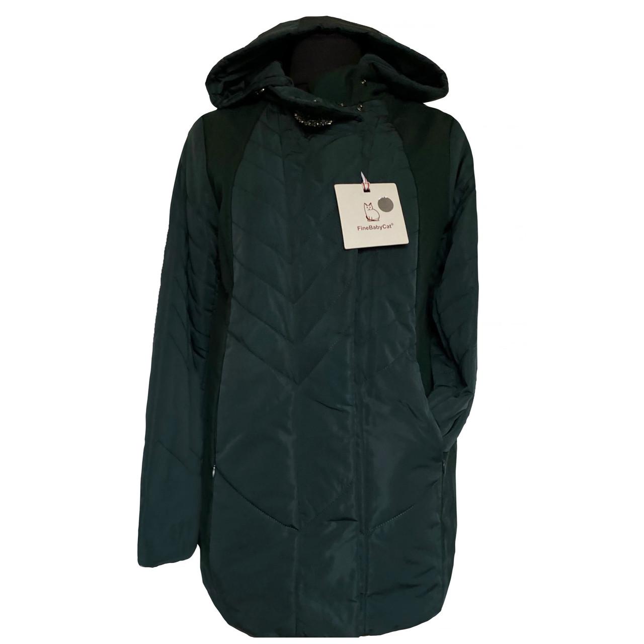 Куртка Фабричная на молнии со съемным капюшоном Fine Baby Cat Китай Размеры 46-52