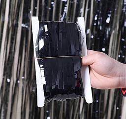 Шторка-завіса з фольги чорна 100 х 200 см