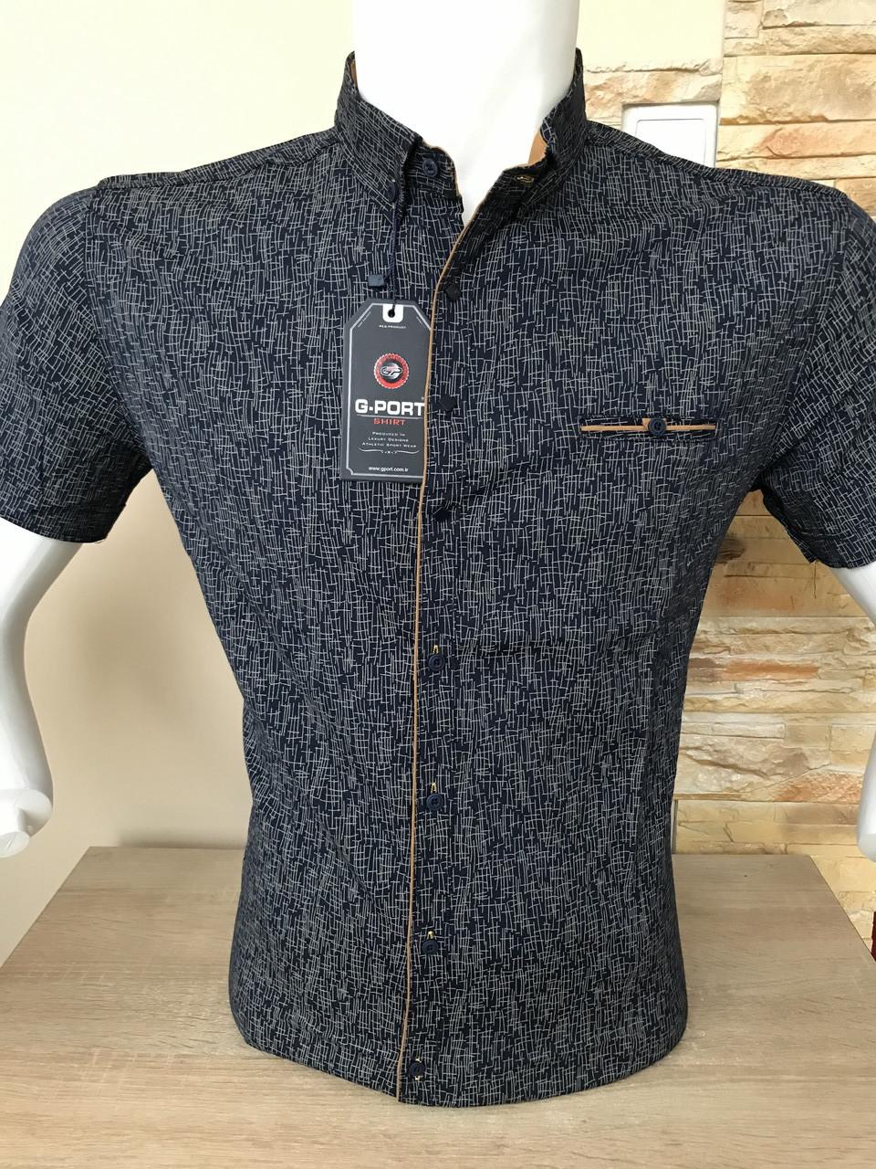 Рубашка короткий рукав G-Port (model*850) с принтом