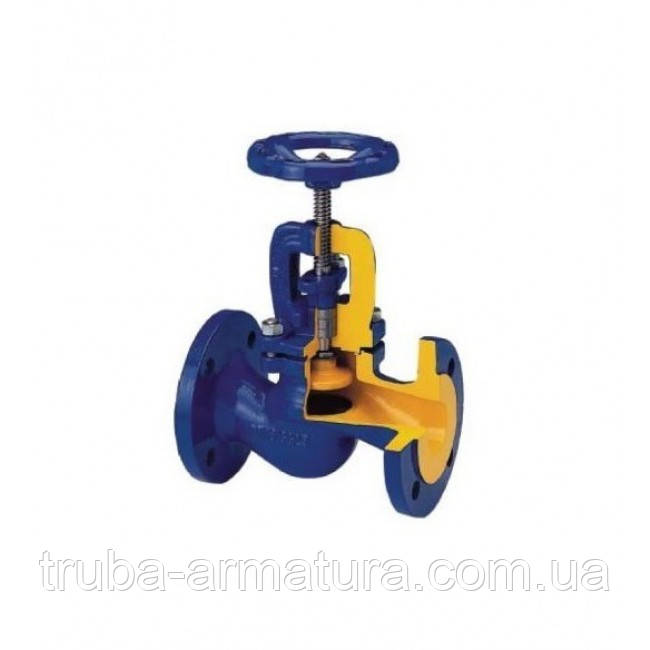 Клапан запорный фланцевый ZETKAMA 215 Ду 200 (сальник)