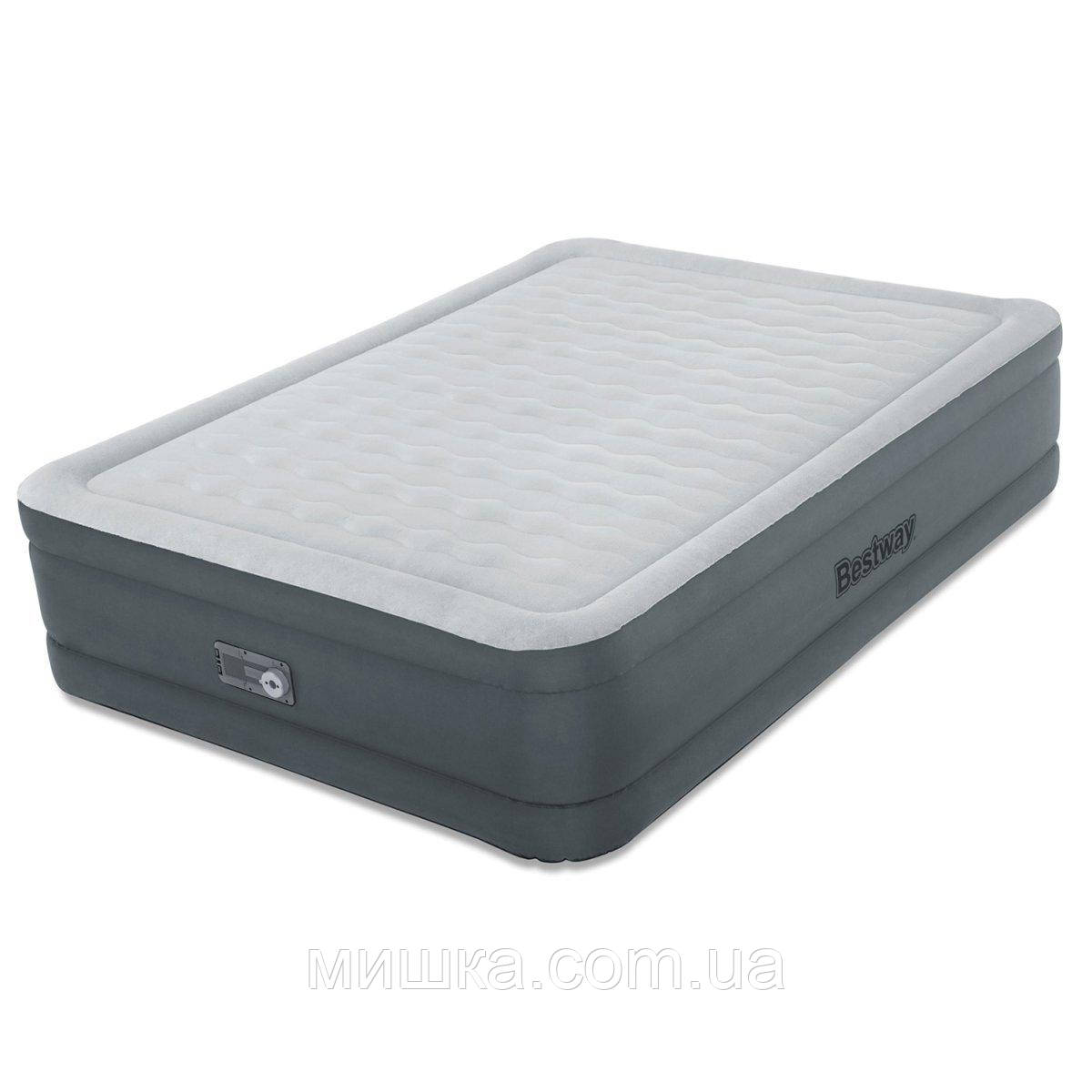 Надувне ліжко півтораспальне з вбудованим насосом Intex 64904, 191*137*46 см