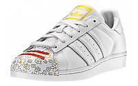 Кроссовки женские Adidas Superstar Pharrell Supershell (адидас суперстар суперколор, оригинал) белые