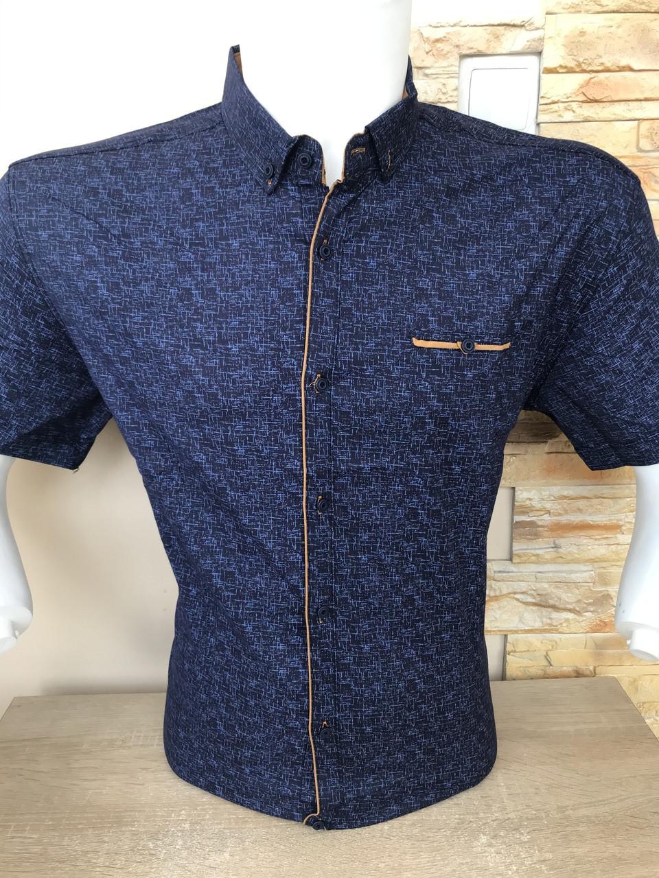 Рубашка короткий рукав G-Port (model*105) с принтом