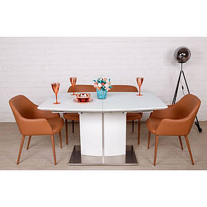 Раскладной стол DALLAS (Даллас) 140/180, белый от Niсolas