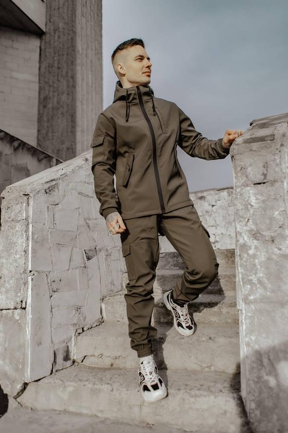 Костюм мужской хаки демисезонный Intruder Softshell Easy. Куртка + штаны осенний   весенний   летний, фото 2