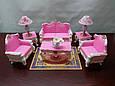 Кукольная мебель Gloria Гостинная для куклы 2317, диван, кресла, столик, аксессуары Т, фото 4