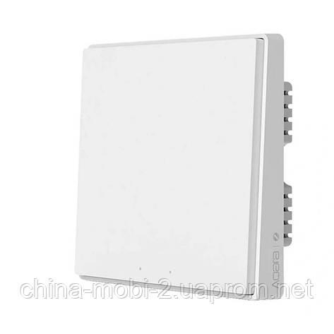 Вимикач Aqara Light Switch D1 ZigBee 3.0 (2 кнопки) white QBKG22LM, фото 2