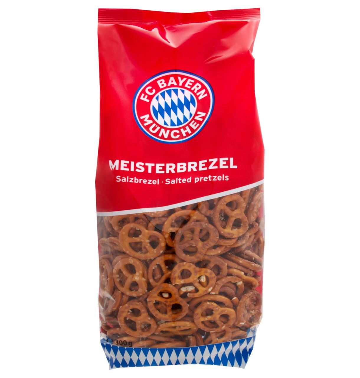Хрустики FC Bayern Munich Mini pretzel солені 300г, 30шт/ящ
