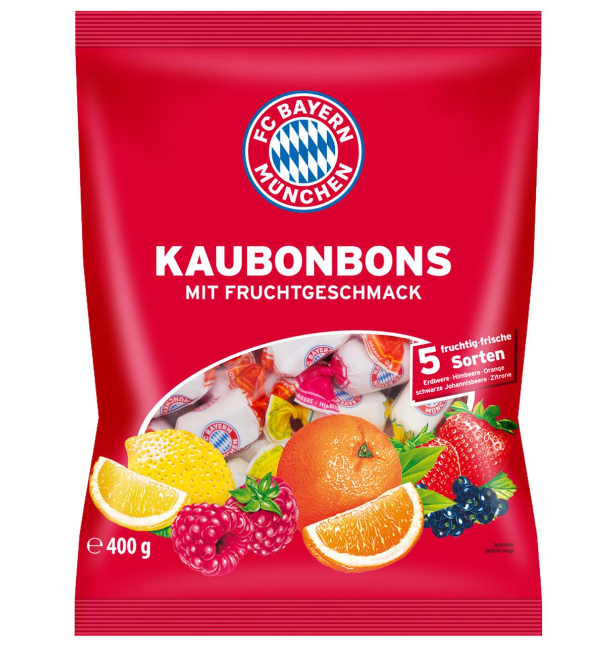 Цукерки жувальні FC Bayern Munich Chewy sweets Multifruct, 400г, 15шт/ящ