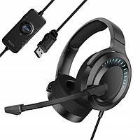 Наушники для игр Baseus GAMO Immersive Virtual 3D Game Headphone (PC), Black (NGD05-01)