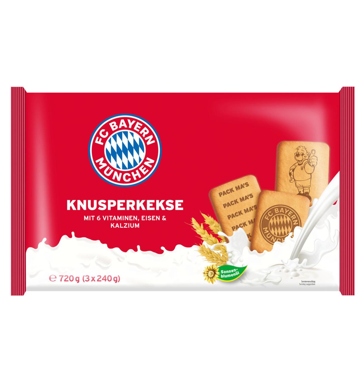 Печиво FC Bayern München wheat biscuits (3х240г) 720г, 16шт/ящ