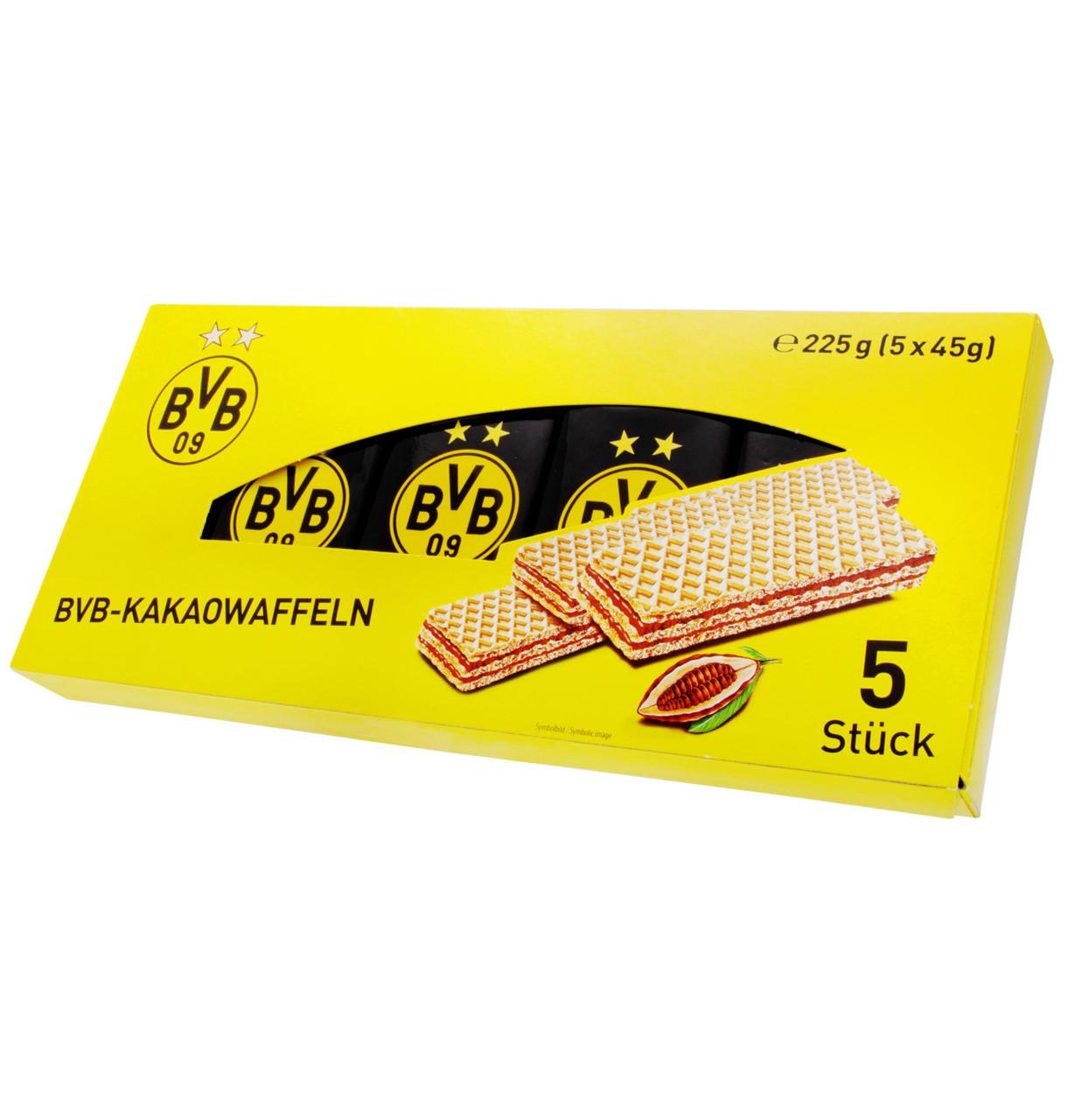 Вафлі BVB Wafers with chocolate cream (5х45г), з шок. кремом 225г, 14шт/ящ