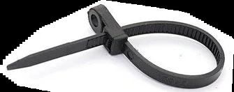 Кабельна стяжка (хомут) 150*3,6 з кільцем чорна (ціна за внут. уп.100шт) ТМ СПЕКТР LUX